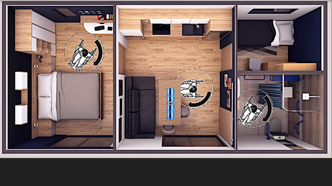 Mobilna hiša INVALID 8,6x4m