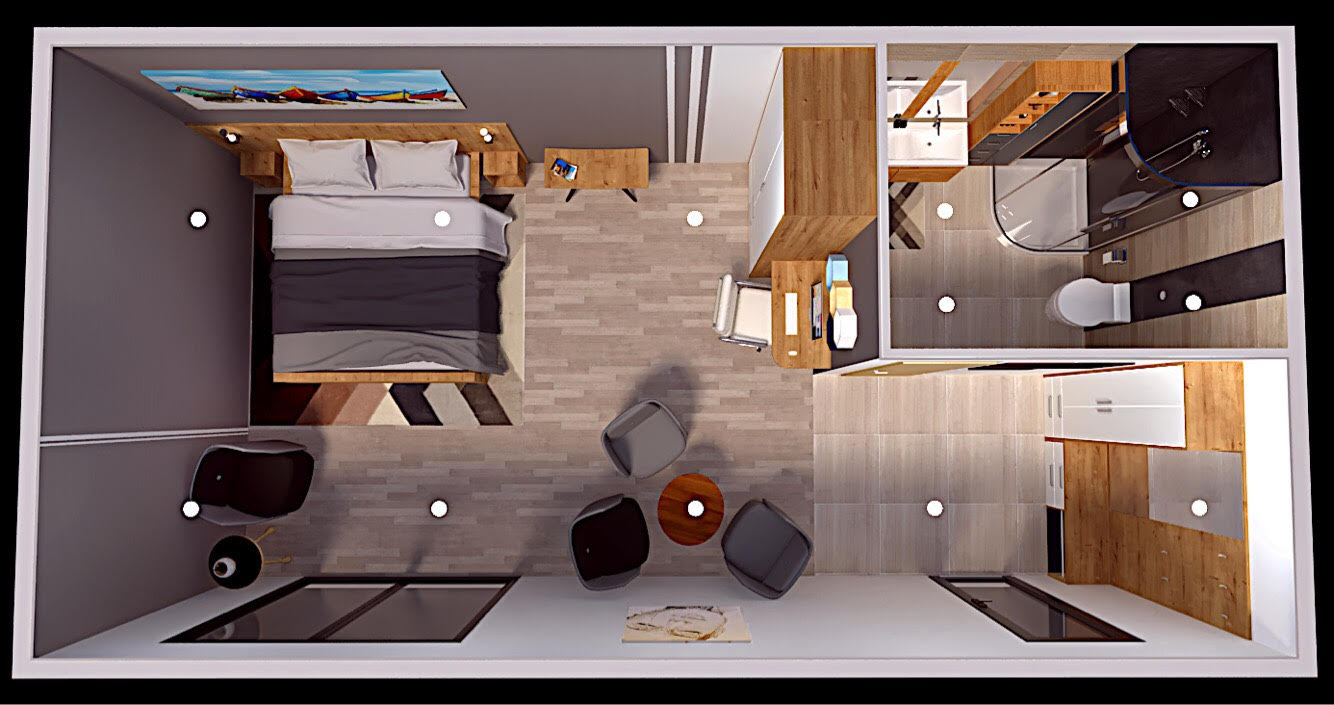 Model HOTEL 8,6x4m